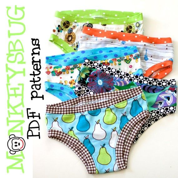 Top 12 Kids Underwear Patterns + Free Pattern List | Sewing patterns ...