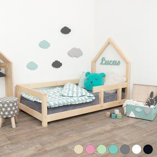 Kinderbett Galindo House Poppi mit Baldachin Isabelle & Max Größe: 120 x 190 cm, Farbe (Bettgestell): Weiß #stainedwood