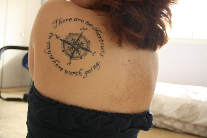 This Is My First Tattoo And It 39 S Very Meaningful To Me I Got The Via Relatably Com Tattoo Designs For Girls Compass Tattoo Inspirational Tattoos