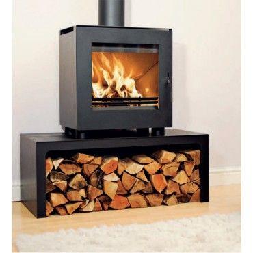 Westfire Uniq 23 Defra Approved Wood Burning Stove With Log Stand Wood Burning Stove Wood Heater Wood Burner