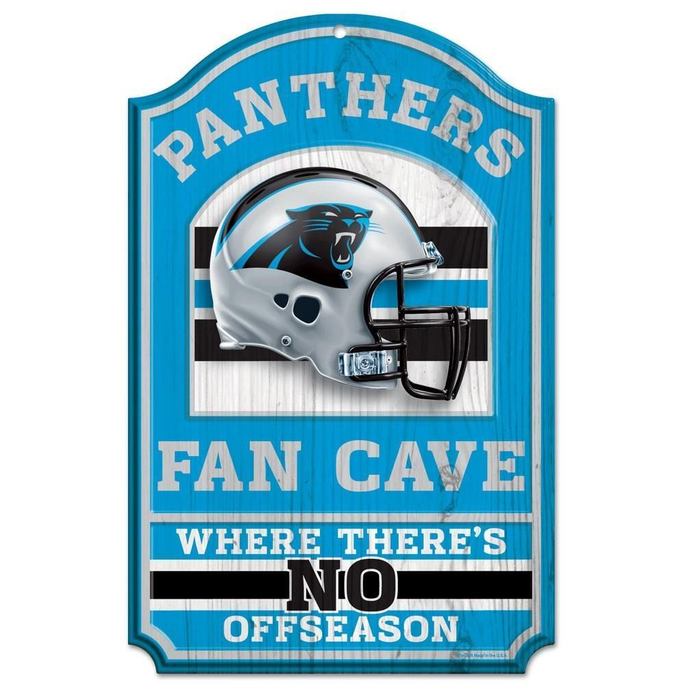 Carolina Panthers Sign 11x17 Wood Fan Cave Design Carolina Panthers Panthers How To Antique Wood
