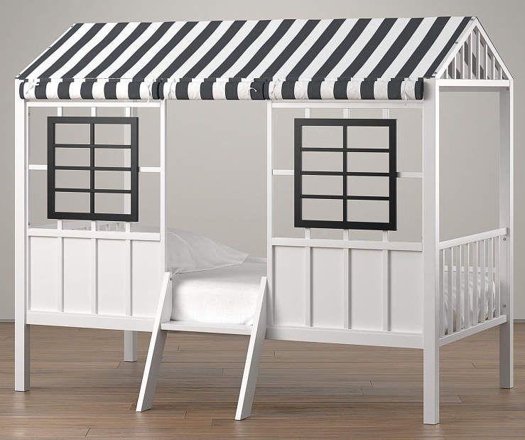 Best Rowan Valley Forest Black White Twin Loft Bed Twin 640 x 480