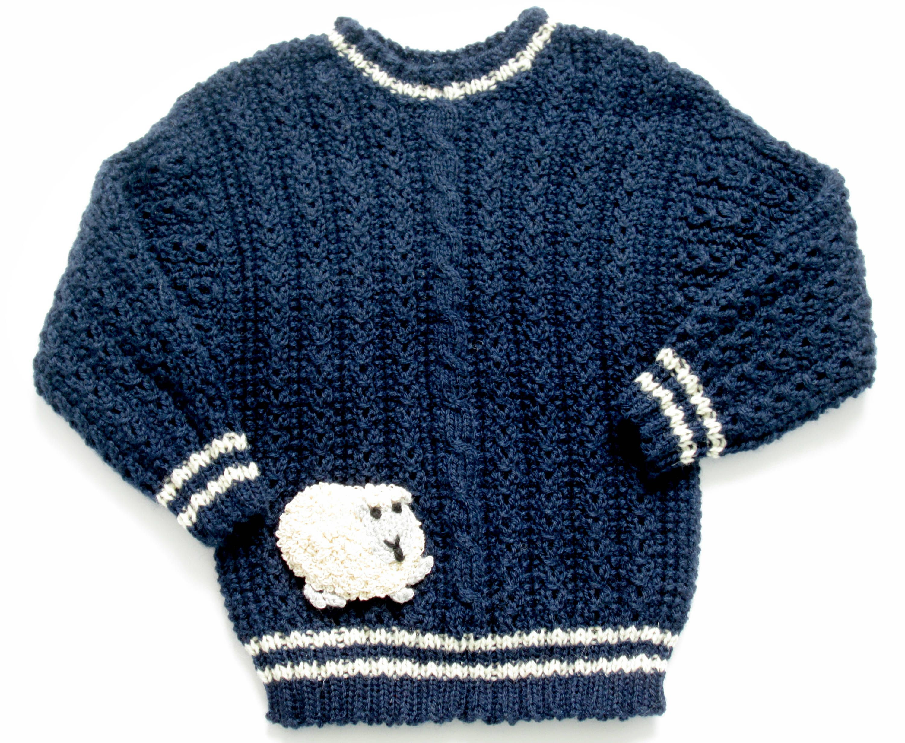 539c99e978a3 Boys Blue Sweater with White Strips