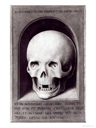 Skull Right Hand Panel Reverse from theTriptych of Earthly Vanity and Divine Salvation c1485