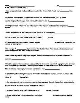 earth from space part 1 worksheet nova science stuff earth from space space worksheets. Black Bedroom Furniture Sets. Home Design Ideas