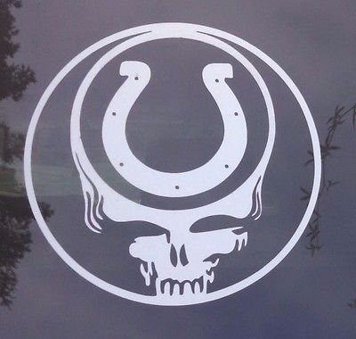 Coltsgrateful dead decaldie cut vinyl stickersteal your face