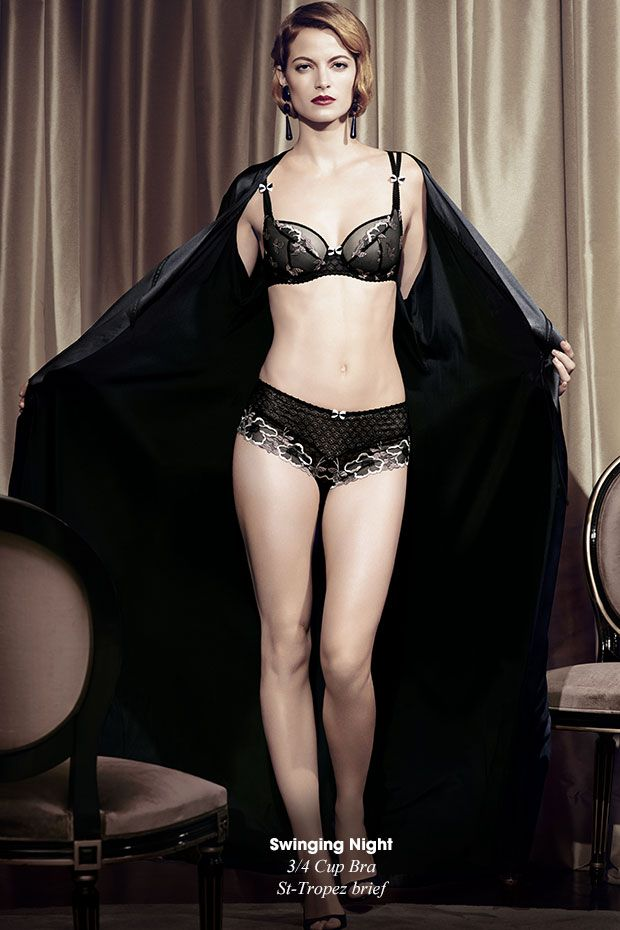26b9efc6f3e Aubade s  lingerie collection features padded plunge  bras along with a  selection of beautiful briefs.