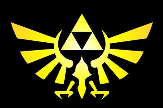 Dekoration Zelda Triforce Sticker Hylian Crest Large Wall Art Utrumpety Cz