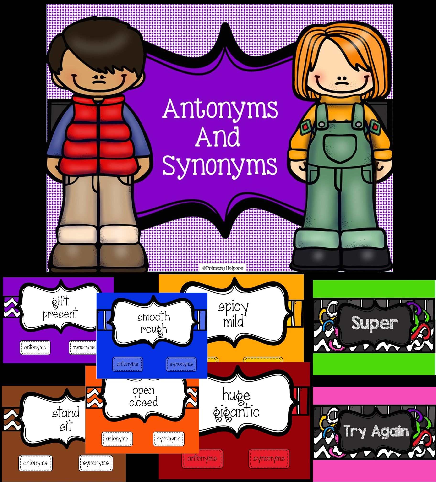 Interactive powerpoint for synonym and antonym review ... - photo#50