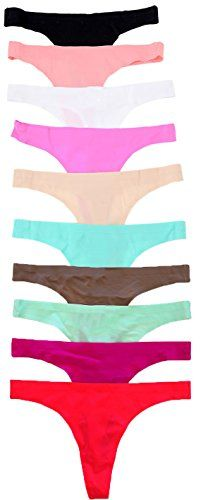 fec7aa75b196 ToBeInStyle Women's Pack of 6 Laser Cut Thongs Panty * CHECK OUT @ http:/
