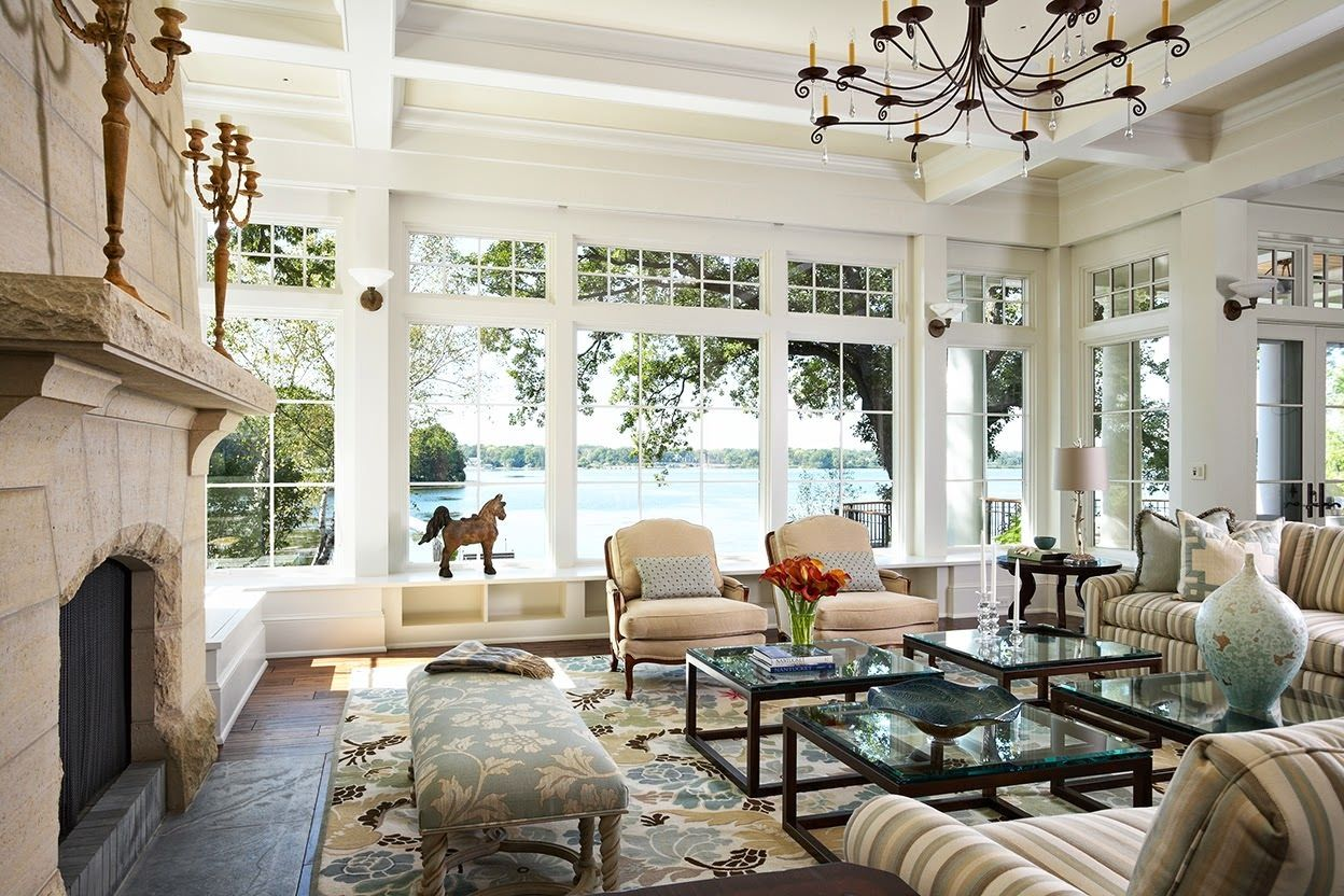 Living Room Big Window With Designs Decorating Ideas Picture Lake
