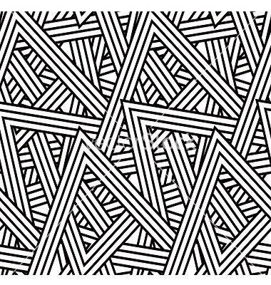 Stripe Triangle Pattern Vector Image On Art Deco Pattern