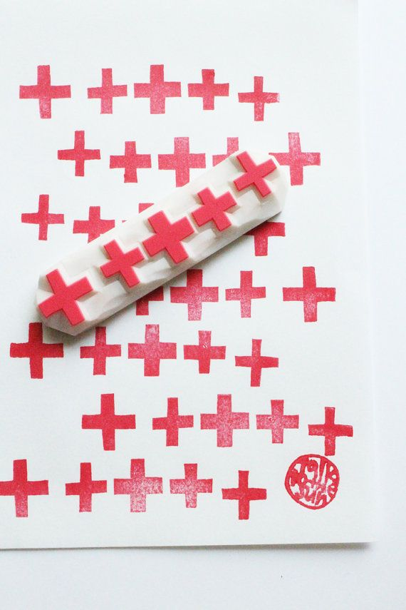 Cross Pattern Rubber Stamp