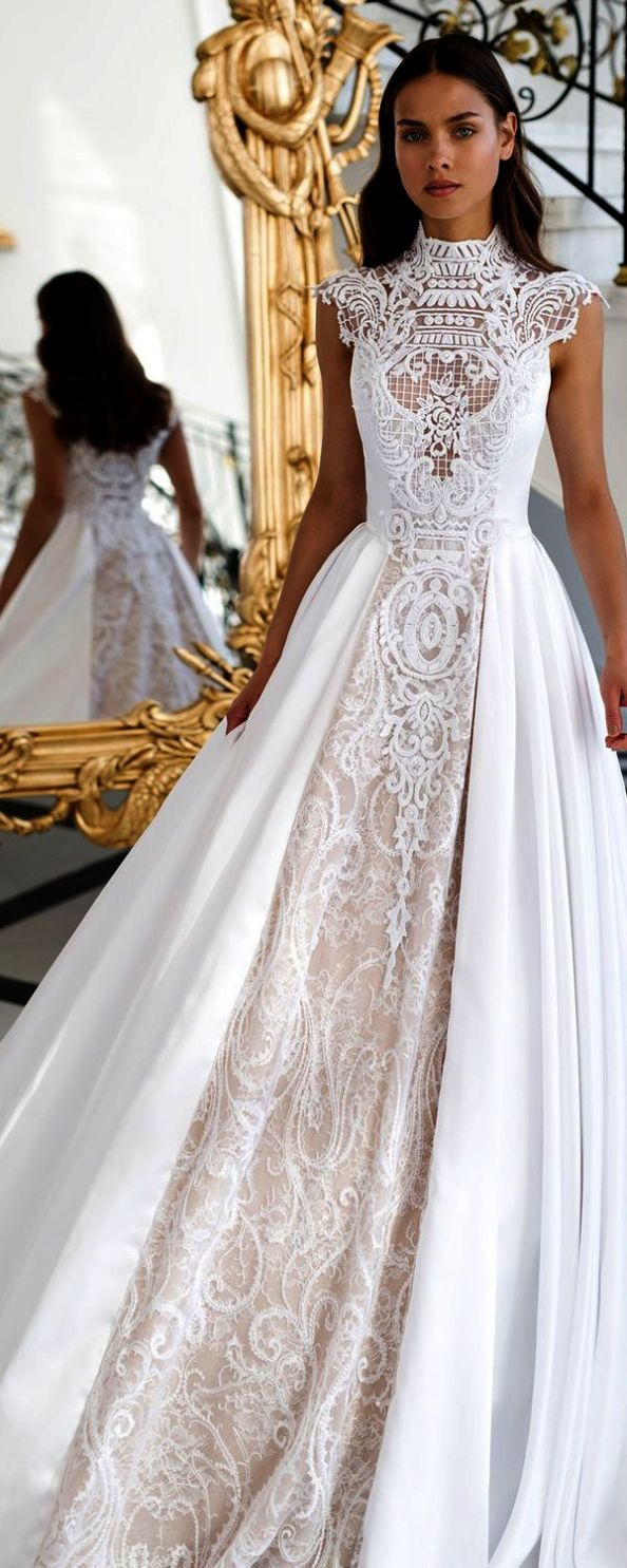 Lace wedding dresses korean ivory lace mermaid wedding dresses