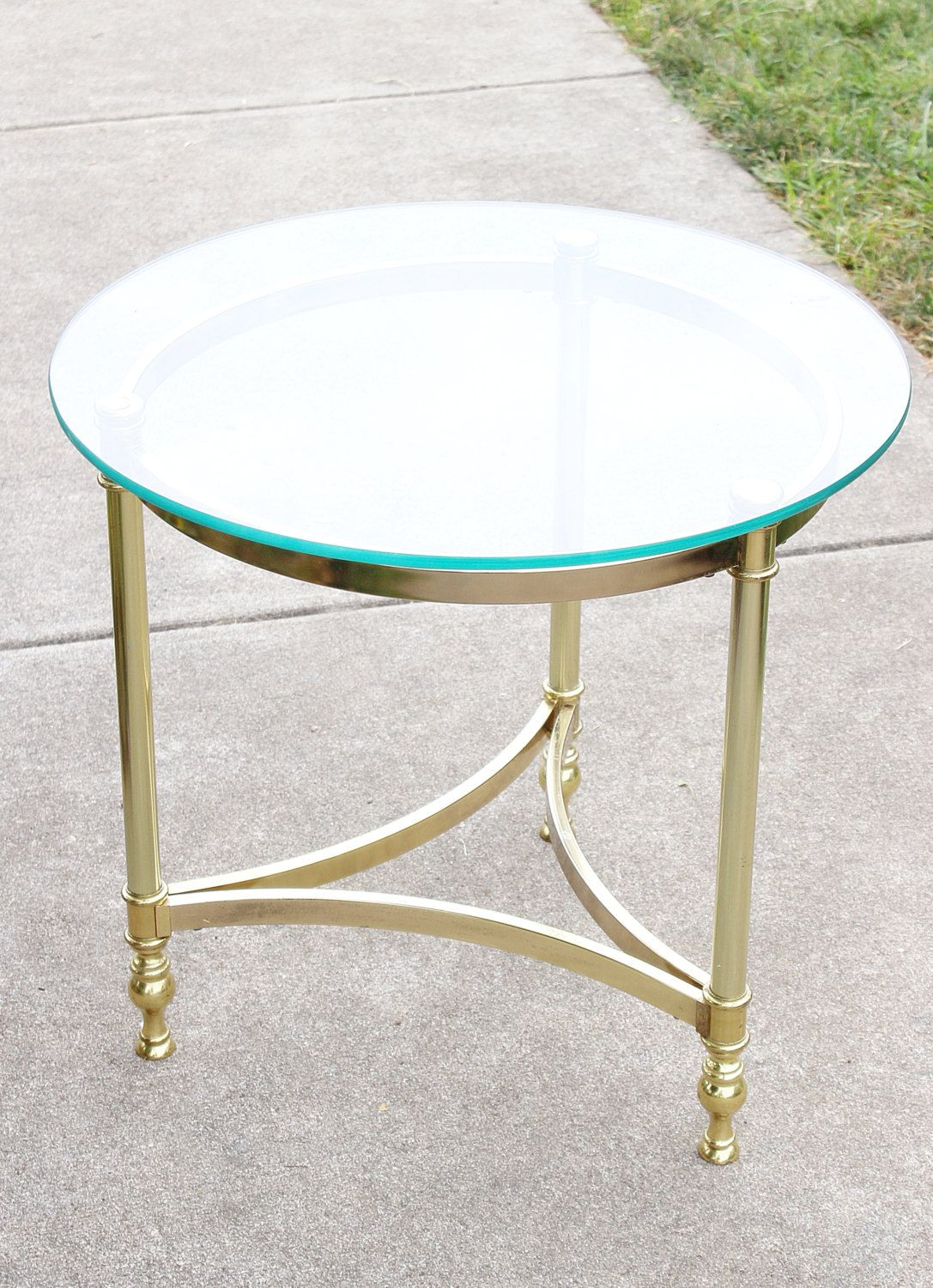 vintage side lamp table steel and brass side lamp table
