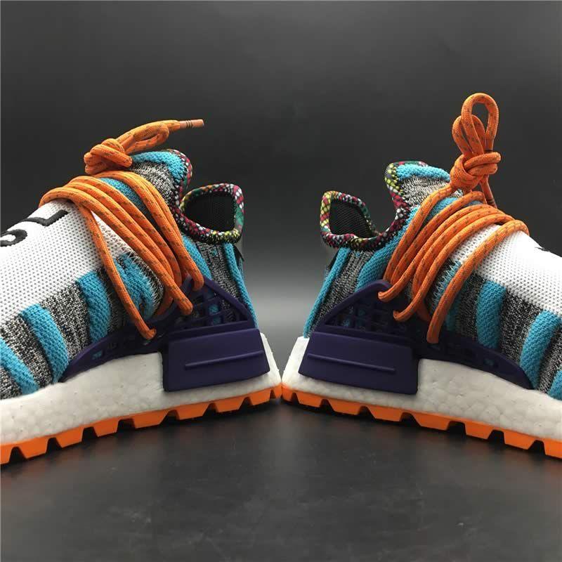 3a0e22958 Pharrell Williams x adidas Originals Hu NMD Trail SOLARHU White Purple Mens  Womens Shoes
