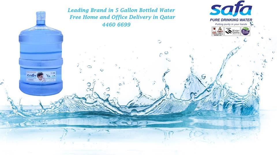 The Leading Brand In 5 Gallon Bottled Water Companies In Qatar Safa Water Free Office And Home Delivery 4460 6699 Water Bottle Company Water Bottles Bottle