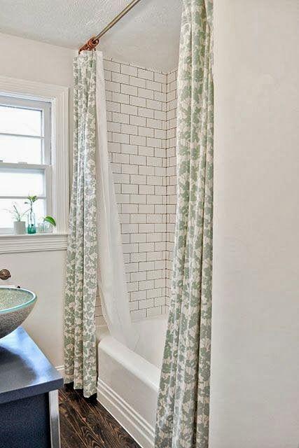 Diy Bathroom Decor She S Crafty Double Shower Curtain