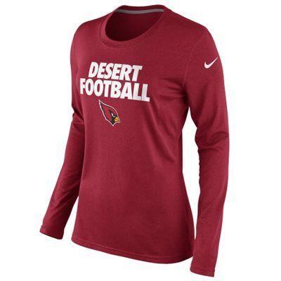 1c5ca292 Nike Arizona Cardinals Ladies Desert Football Local Long Sleeve T ...