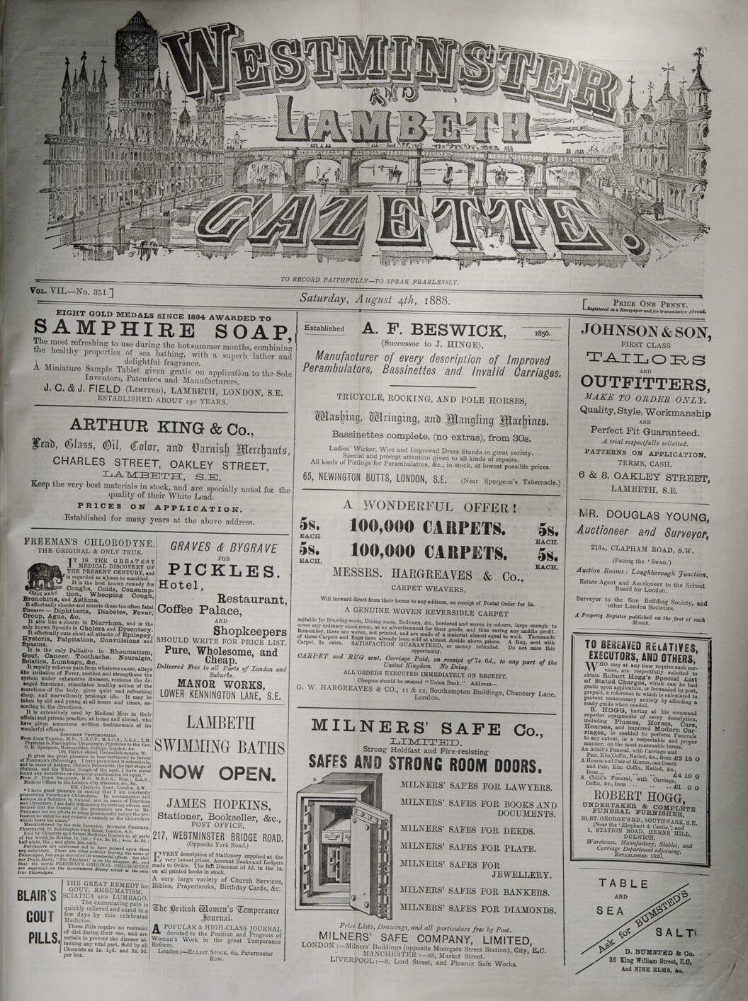 Newspaper Page Of Advertisements From 1888 Vintage Advertisement Old Newspaper Newspaper Wallpaper