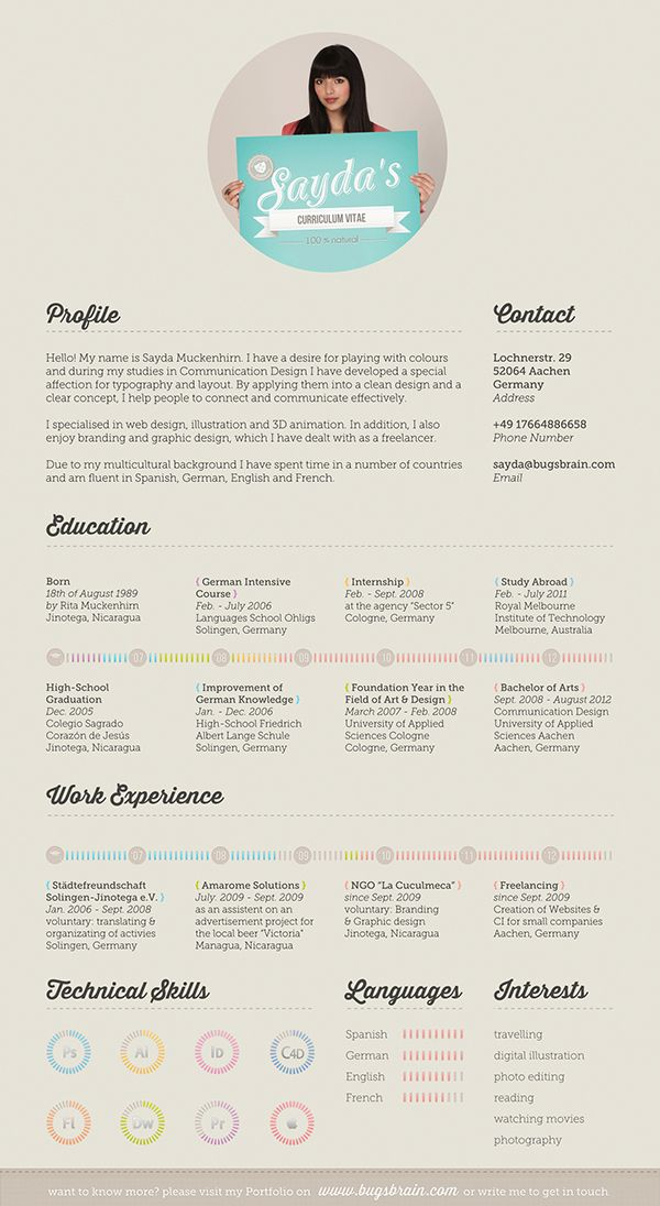 Looks nice, would not work for me as is Picture too big etc Do - how a resume looks