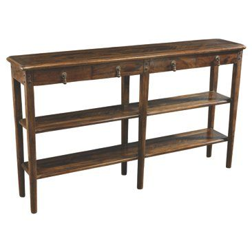 Check out this item at One Kings Lane! Sarah 2-Shelf Console, Pecan
