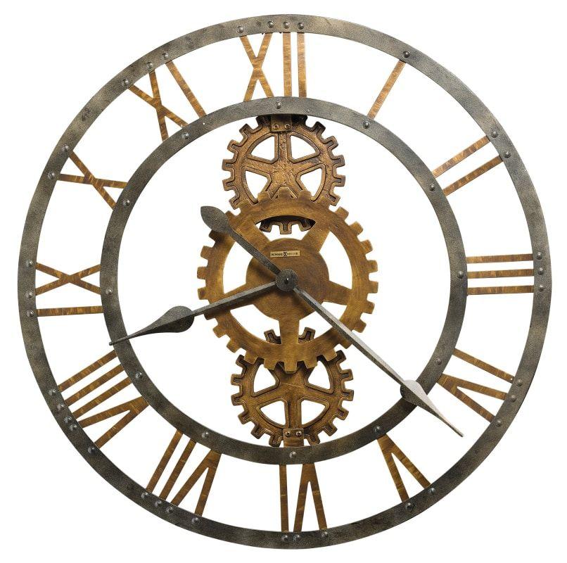Howard Miller 625517 Gear Wall Clock Industrial Clock Wall Oversized Wall Clock