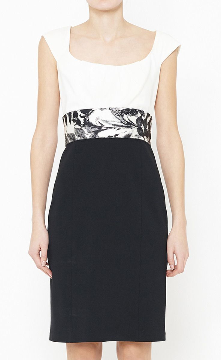 Elie Tahari Black And White Dress Dresses Fashion Fashion Outfits [ 1200 x 736 Pixel ]