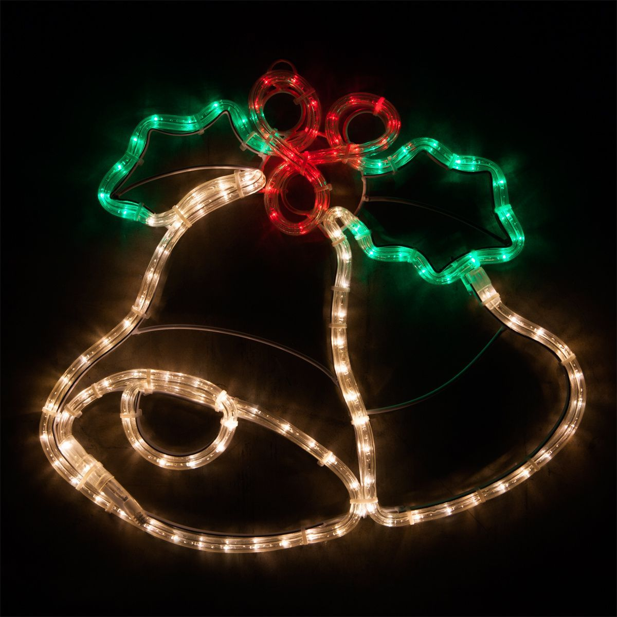 20 Led Christmas Bells With Holly Outdoorchristmasdecorations Christmas Bells Led Christmas Lights Decorating With Christmas Lights