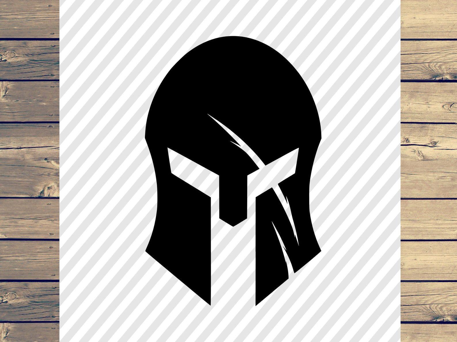 Spartan Helmet With Scar Svg Filespartan Helmet With Scar Etsy In 2021 Spartan Helmet Spartan Helmet Tattoo Spartan