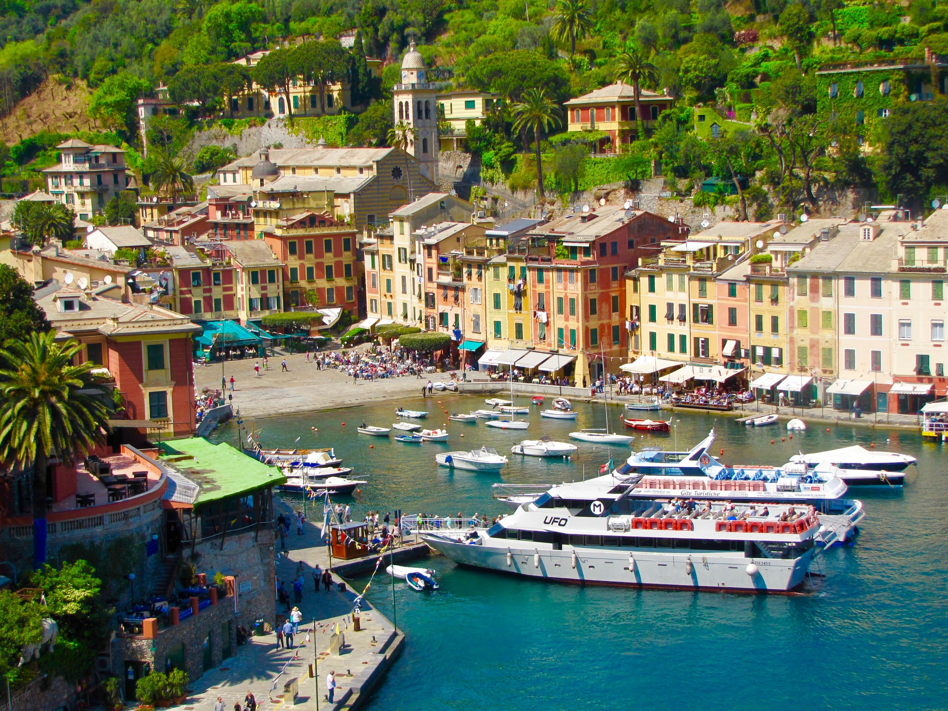 "Portofino - Italy  ""A small village, Portofino, stretches crescent-shaped along the edge of this calm bay."" Maupassant"
