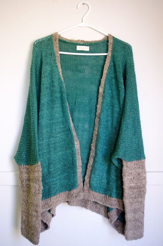 95bbb9b34 Lindsey Baggy Sweater - Fair Trade and Hand-knit made of Banana Fibre and  Silk - Free Shipping on Etsy