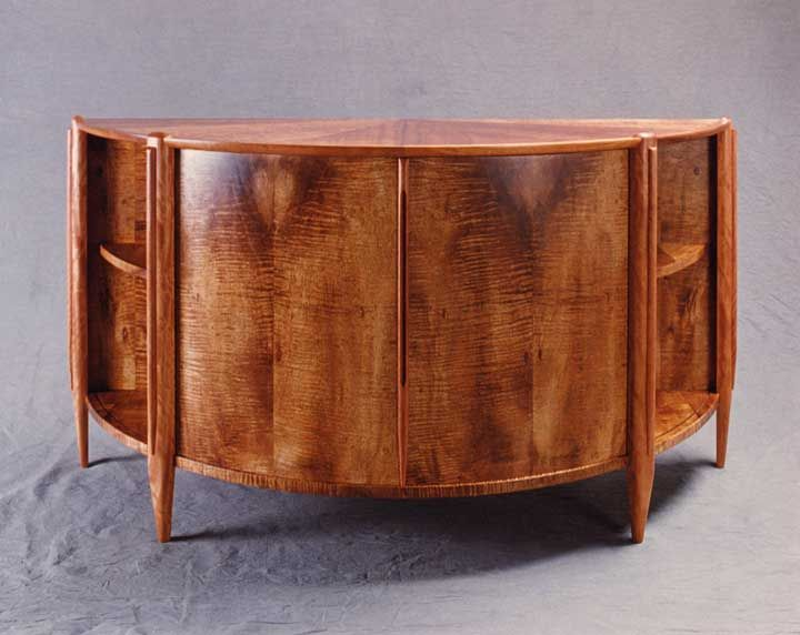 Marian Yasuda Cabinet Hardwood Furniture Hawaiian Decor Custom Furniture