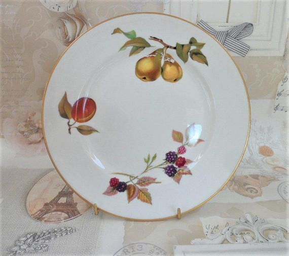 Royal Worcester Salad Plate Select One From Six Evesham Pattern Vintage  Porcelain Oven To Table Ware