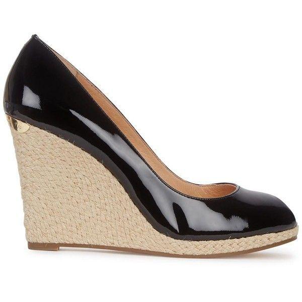 Womens Wedge Pumps Michael Kors Keegan Black Patent Leather Pumps ($185) ❤  liked on. Peep Toe PlatformPeep Toe PumpsPlatform ShoesBlack ...