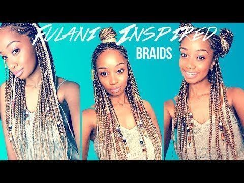 African traditional hairstyles Cute Fulani braids are in vogue. We bring you this awsome inspirational bead braids that you will like to wear. #TraditionalAfricanHairstyles # fulani Braids with yarn # fulani Braids with yarn