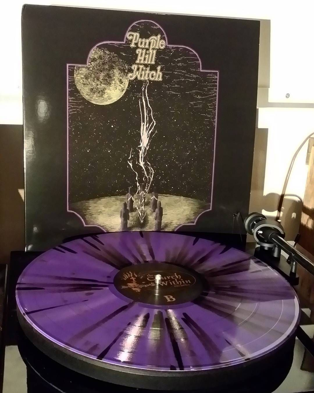 Purple Hill Witch -s/t Purple/black splatter vinyl. Norwegian sabbath worship at its finest. You need this.  #purplehillwitch #sabbathworship #doom #stonerdoom #stonerrock #vinyl #coloredvinyl #vinyloftheday #vinylcollection #nowspinning #nowplaying #thechurchwithinrecords by badspit