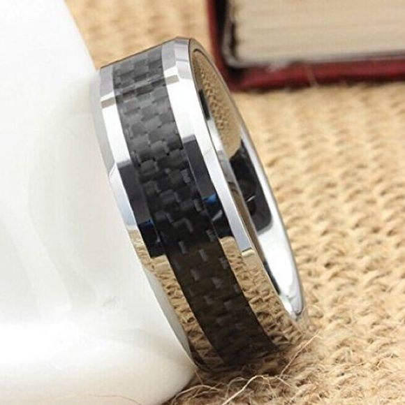 Final priceNEW CARBON FIBER TUNGSTEN RING Size10 This is brand new