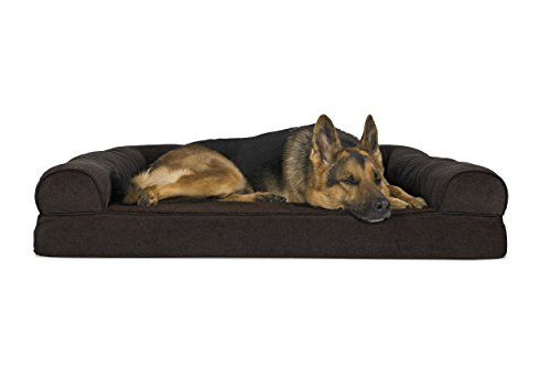 Amazon Com Furhaven Orthopedic Dog Couch Sofa Bed For Dogs And Cats Jumbo Coffee Pet Supplies Dog Pet Beds Dog Sofa Bed Couch Pet Bed