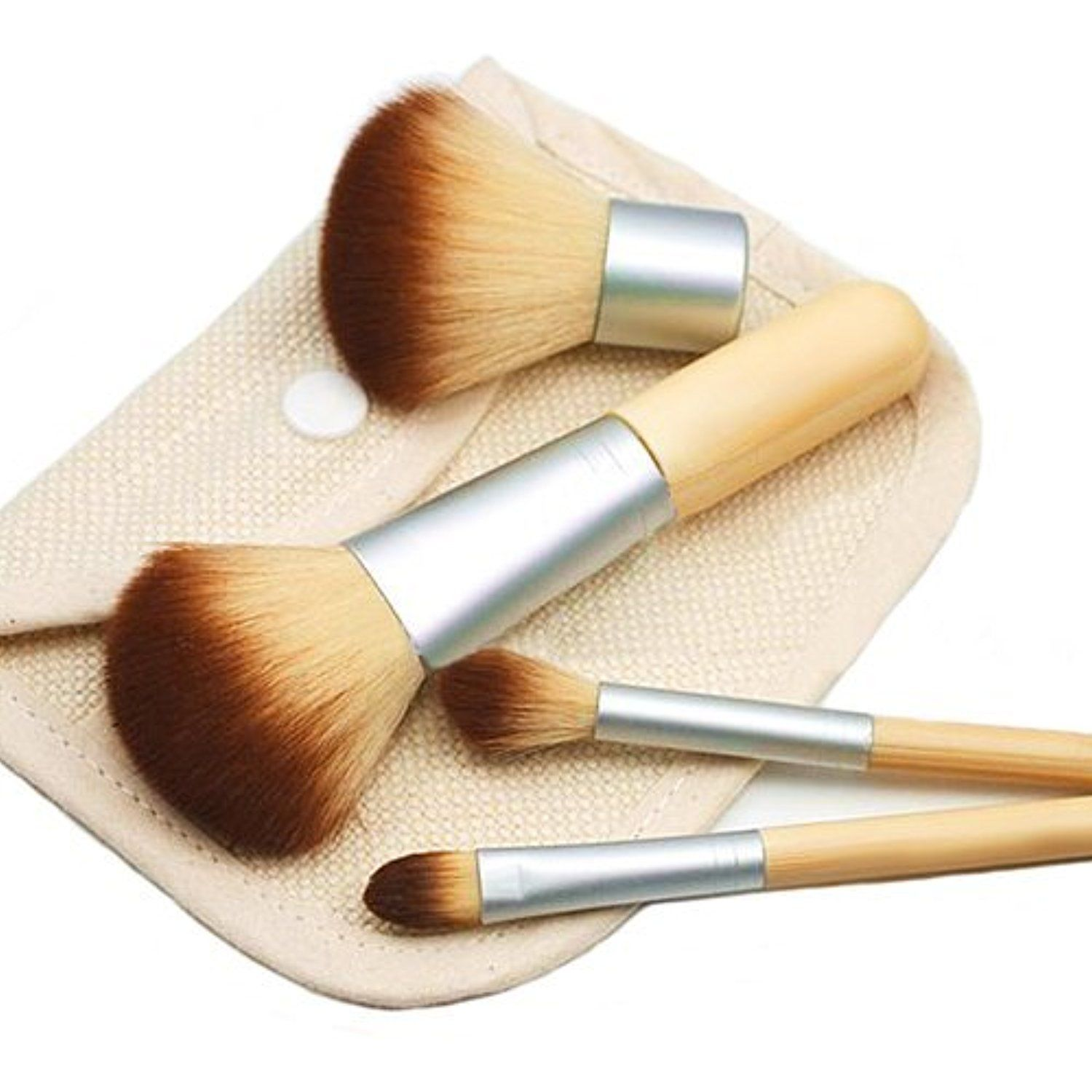 KOLIGHT®4pcs Earth Friendly Bamboo Elaborate Makeup Brush