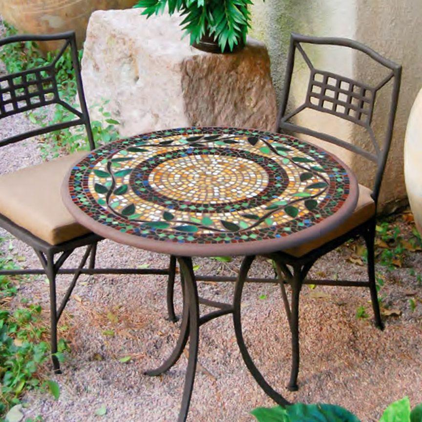 Mosaik Bistro Set Outdoor Dekor Eisenmobel Und Cafe Dekoration