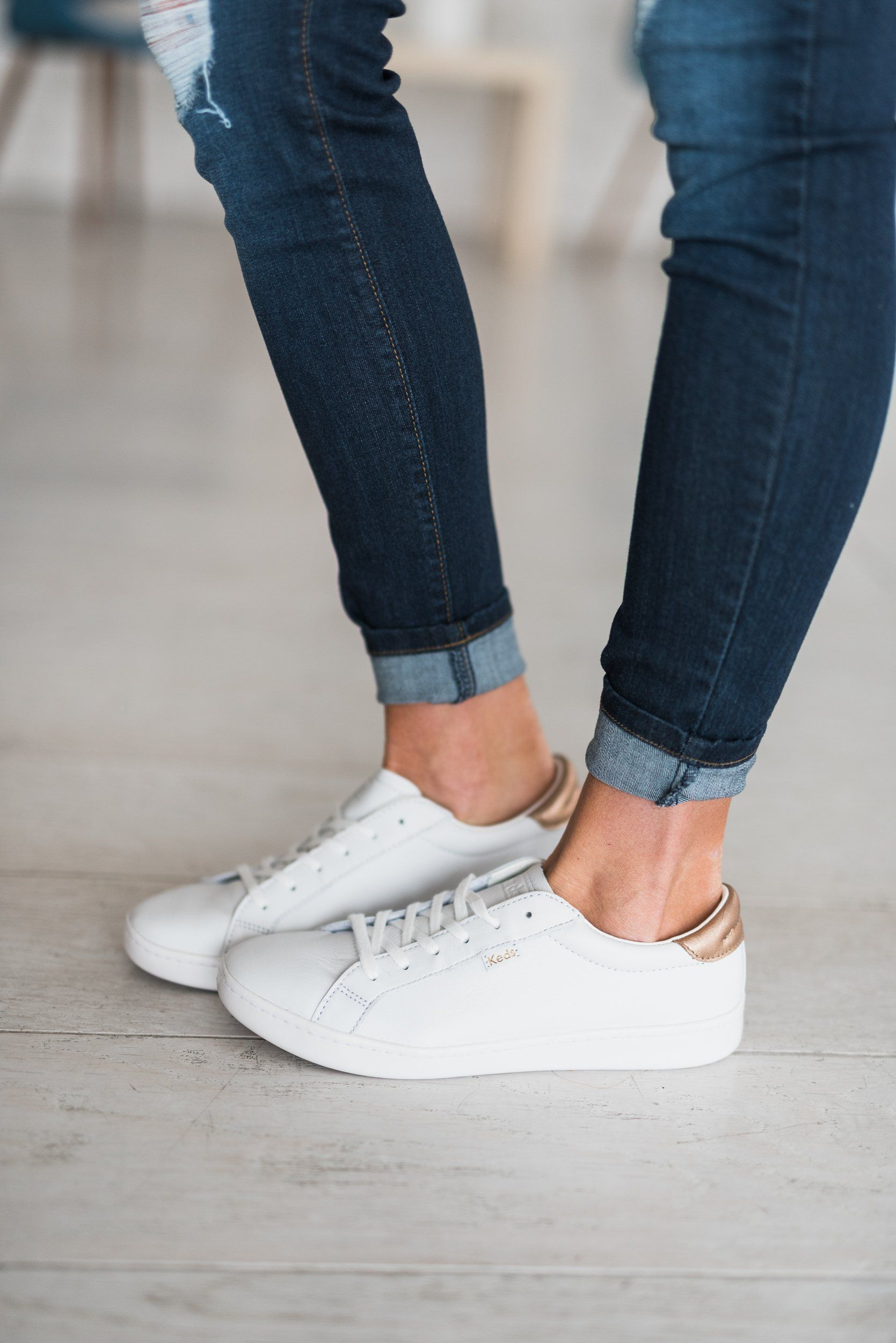 Ace Leather Sneakers - Metallic Rose