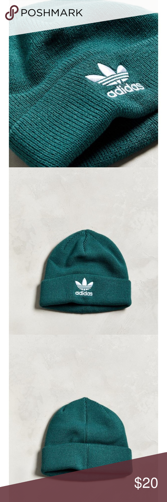 952834ca92d New-adidas original trefoil green beanie Brand new with tag Get prepared  for coming winter! adidas Accessories Hats