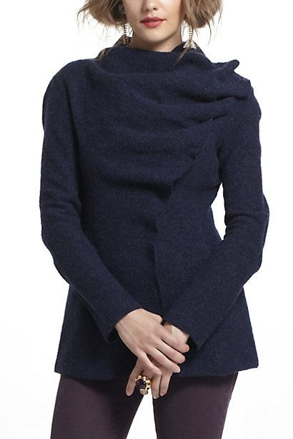 Boiled Wool Draped Sweatercoat Anthropologiecom Anthro Love