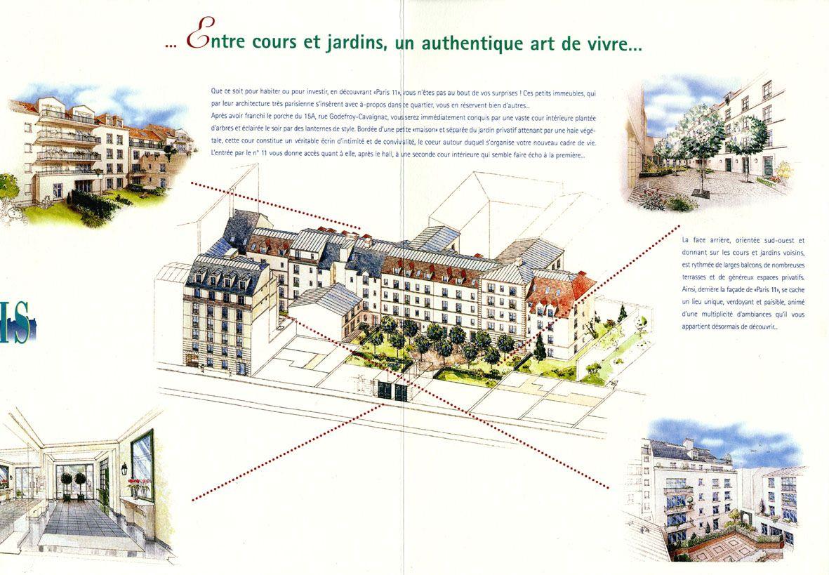 Projet Immobilier Cour Interieure De Immeuble Illustrations A L