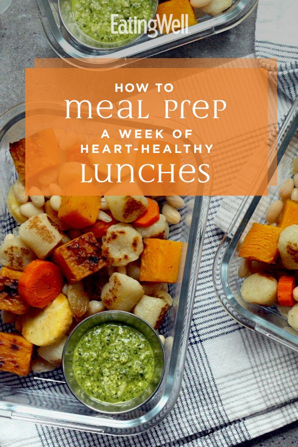 How to Meal-Prep for a Week of Heart-Healthy Lunches #mealprepplans