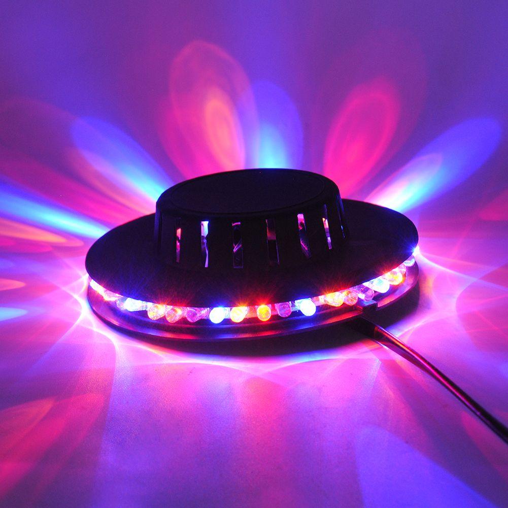 Kleurrijke roterende podiumverlichting plastic metalen 5 w 48 led ...