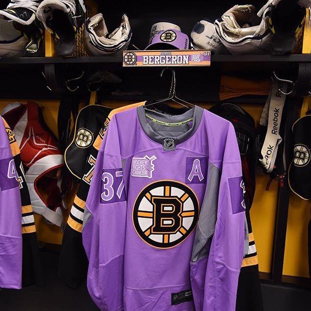 Hockeyfightscancer Bostonbruins Ifightform M Hockey Fights Boston Bruins Varsity Jacket