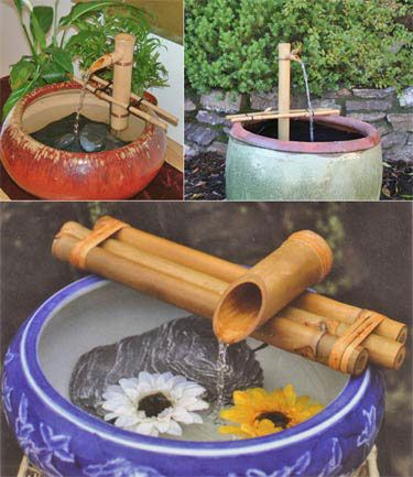 Make an easy Tabletop Fountain with bamboo kit