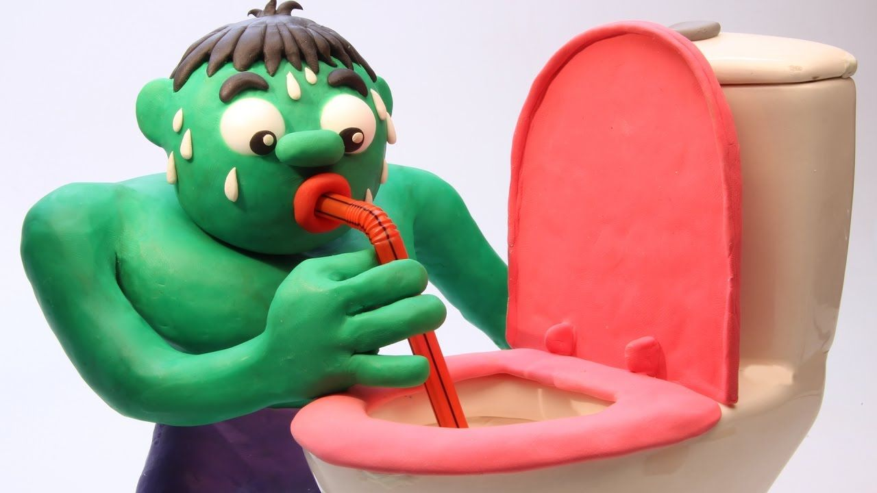 Hulk DRINKS FROM A TOILET Superheroes In Real Life Animated Movies Pla